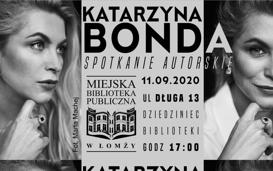 Katarzyna Bonda – spotkanie autorskie – 11 września